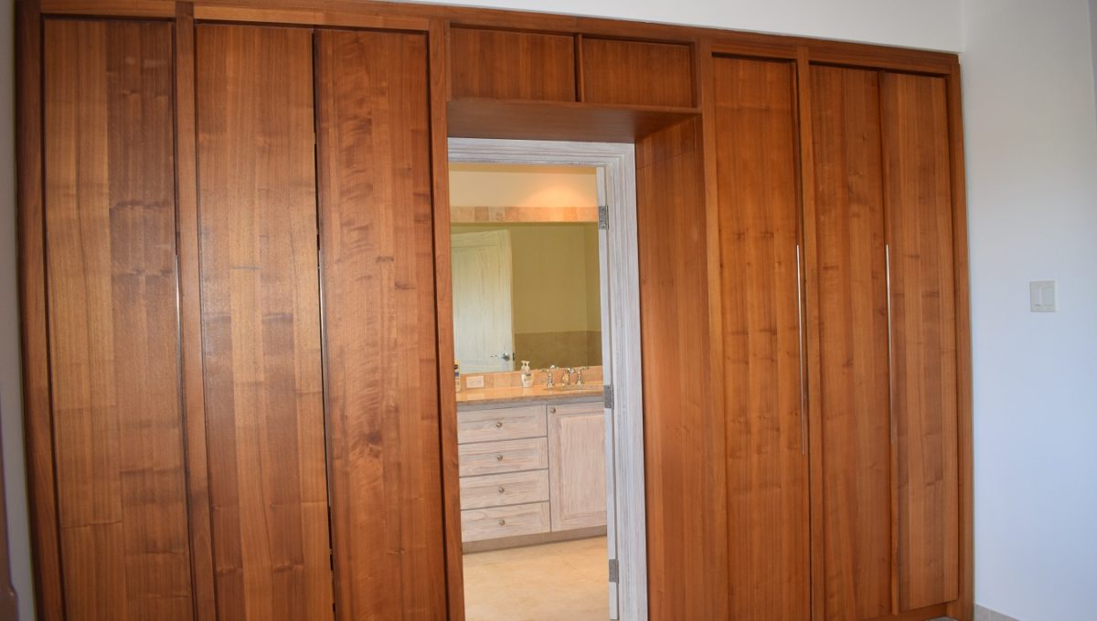 Closets with view to bathroom