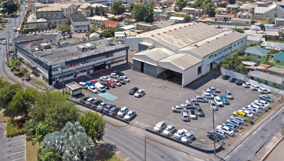 Whitepark Road Aerial shot